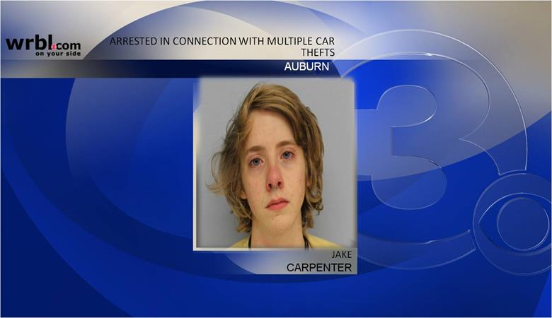 Auburn man arrested in connection with several car thefts (Image 1)_4144