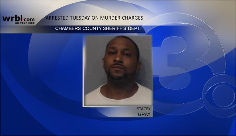 Macon County officials has confirmed to News 3 that Stacey Gray, the man suspected in connection to the murder of Renee Eldridge, has been arrested.