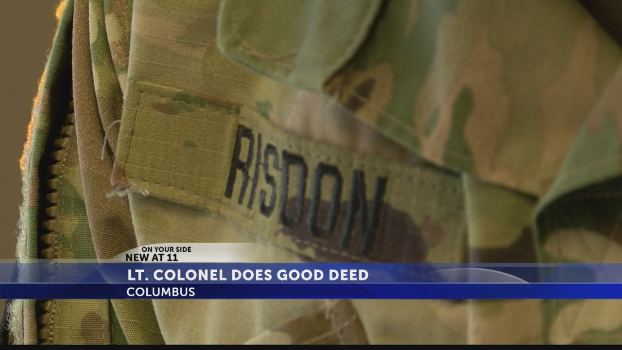 Lieutenant Colonel's generosity has turned into a viral sensation.