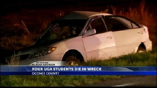 4 UGA students killed, 1 injured in crash