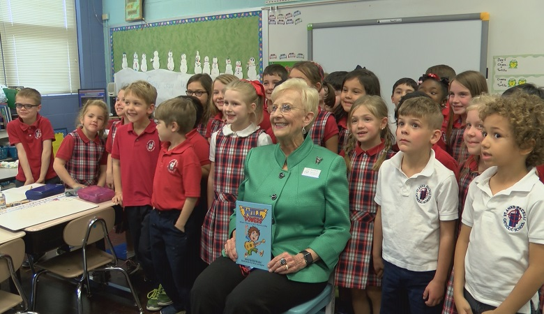Georgia First Lady Sandra Deal read to students at four Columbus schools to promote literacy among children.