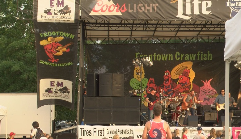 Thousands of people packed Woodruff Park in Uptown Columbus for the two-day Frogtown Crawfish Festival.