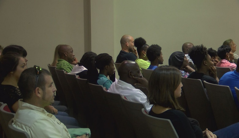 Nearly 100 people showed up in Recorder's Court to stand before a judge, after being cited in a Columbus Police distracted driving sting.