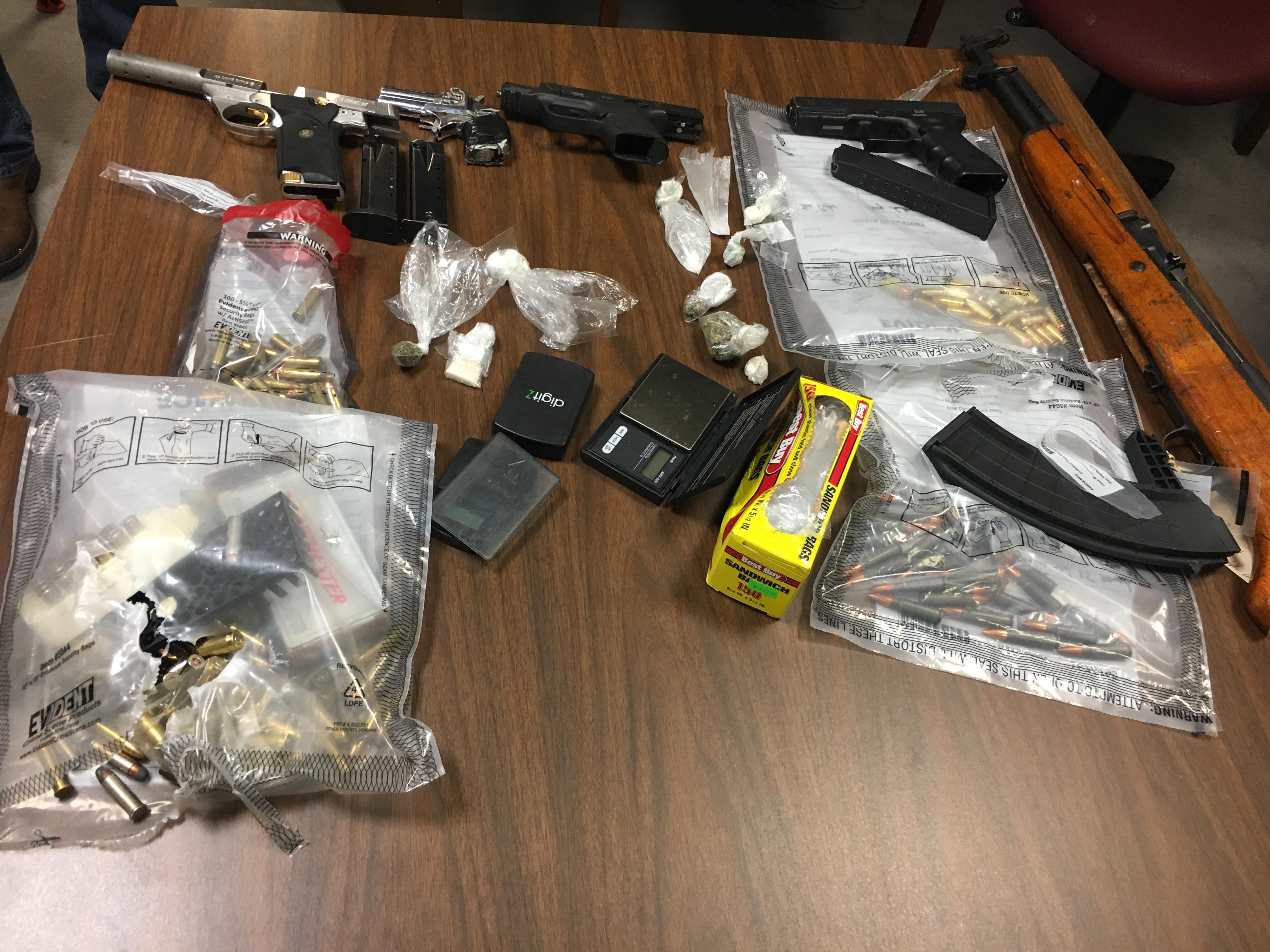 6 arrests, 5 guns & multiple drugs seized by MCSO