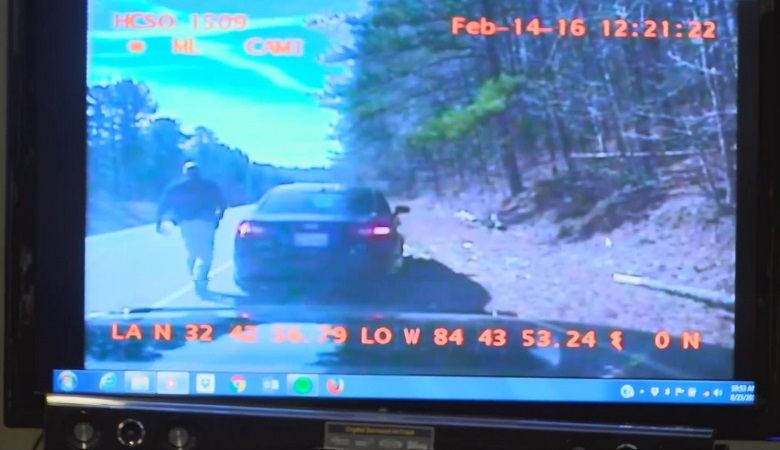 Dash cam video details the exchange between ex-Harris County Deputy Tommy Pierson and the woman accusing him of sexual assault.
