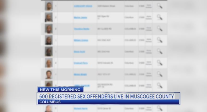 600+ registered sex offenders live in Columbus