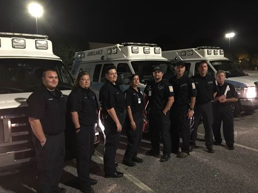 This EMS unit based out of Alabama is evacuating people out of South Florida before Hurricane Irma hits (Courtesy: Kyle Butler).