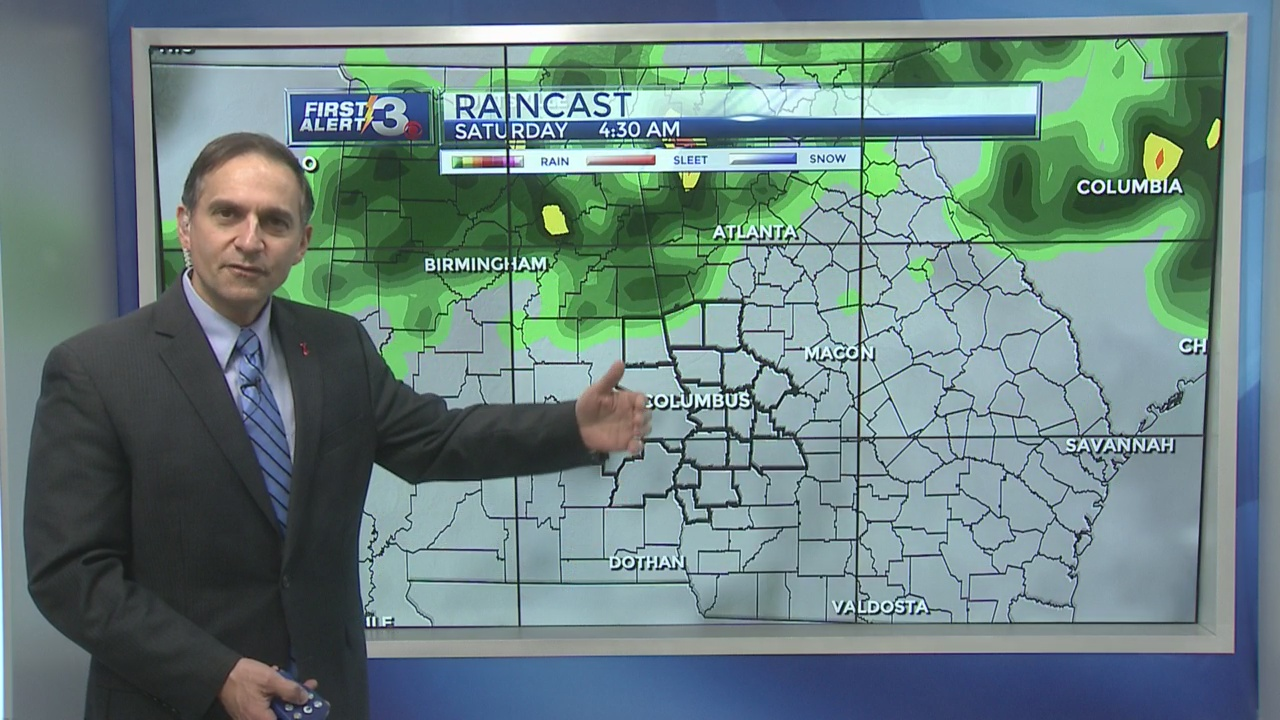 FORECAST: A break from the rain, then the clouds and rain return