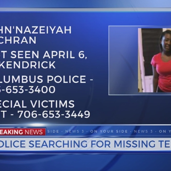 Missing teen overnight