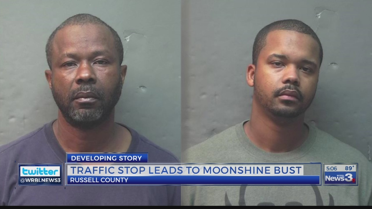 RUSSELL COUNTY TRAFFIC STOP LEADS TO DISCOVERY OF ILLEGAL MOONSHINE OPERATION