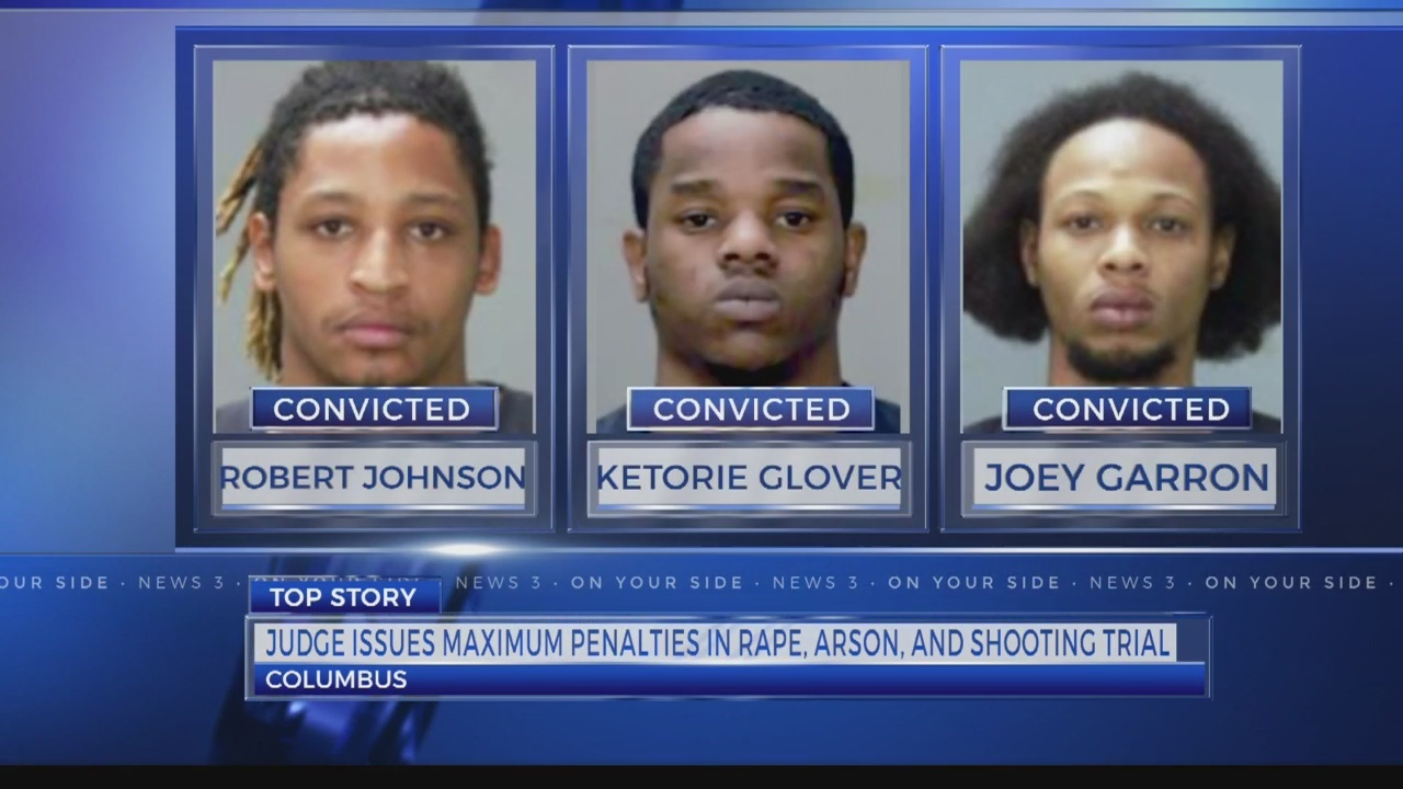 3 receive life sentences for woman's rape, shooting and