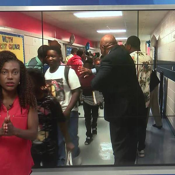 Eddy Middle School students greeted with cheers