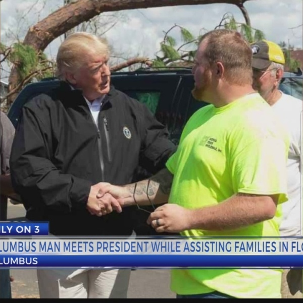 COLUMBUS MAN MEETS PRESIDENT TRUMP WHILE CLEANING UP FLORIDA COAST 5P