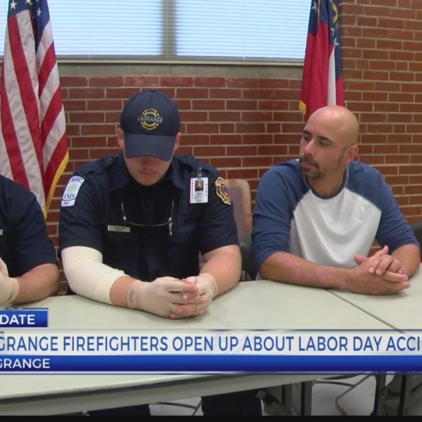LAGRANGE FIREFIGHTERS SHARE STORY OF SURVIVAL FOLLOWING LABOR DAY HOUSE FIRE 5P