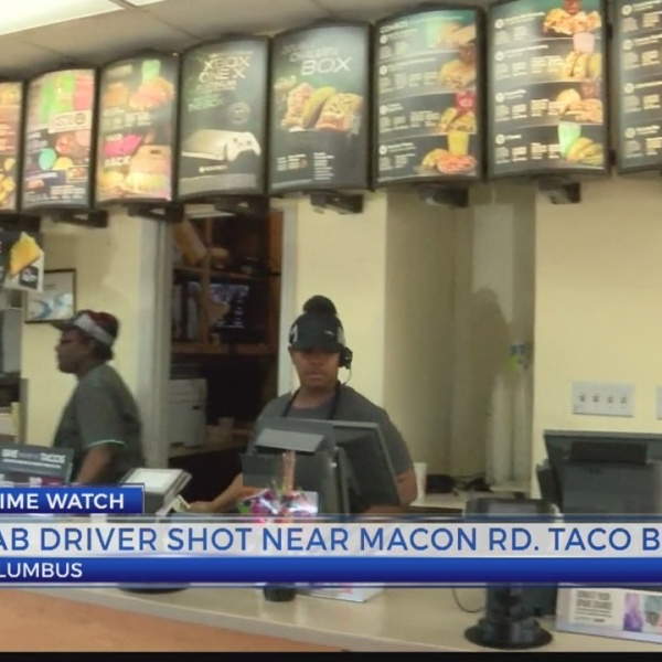 cab driver shot near macon rd. taco bell
