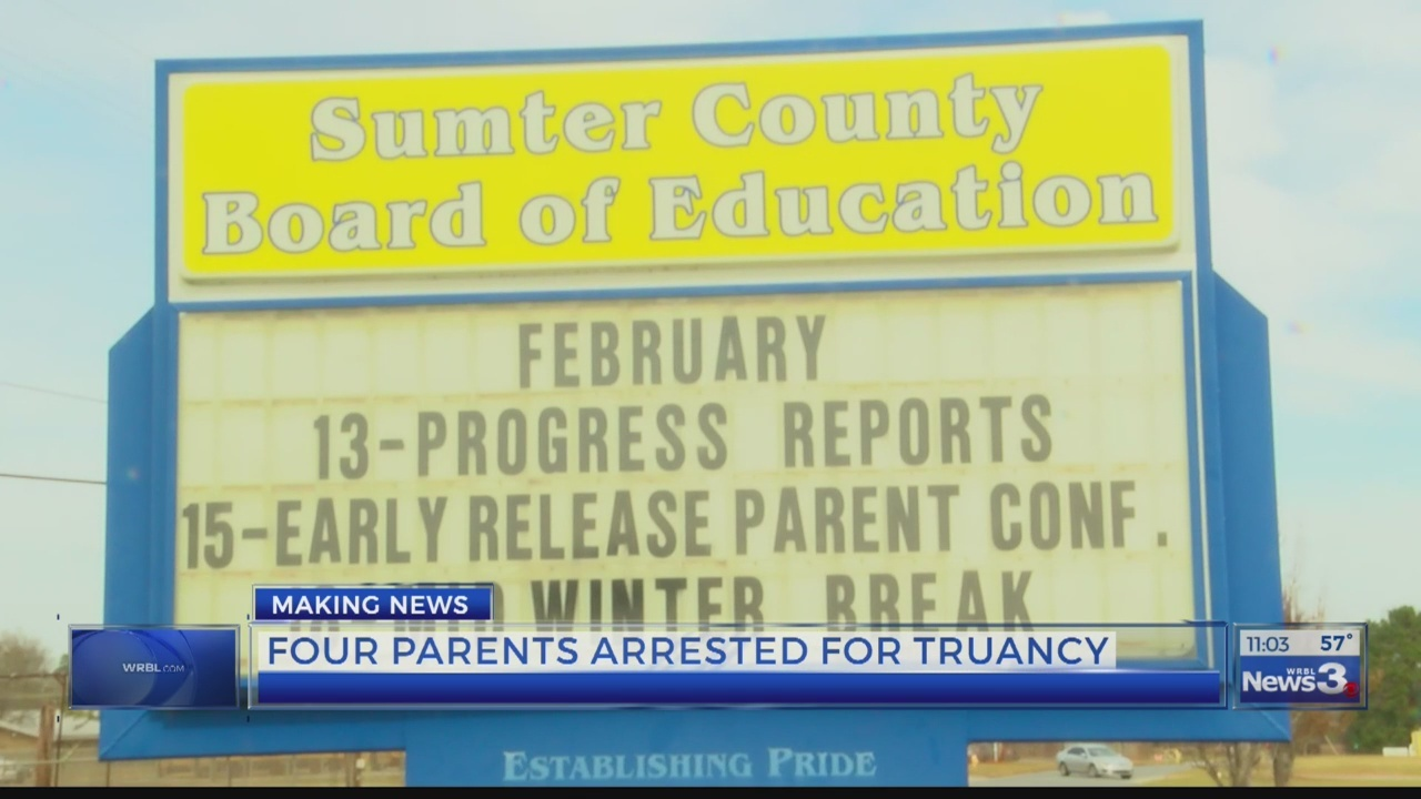 Parents arrested in Sumter County for excessive unexcused