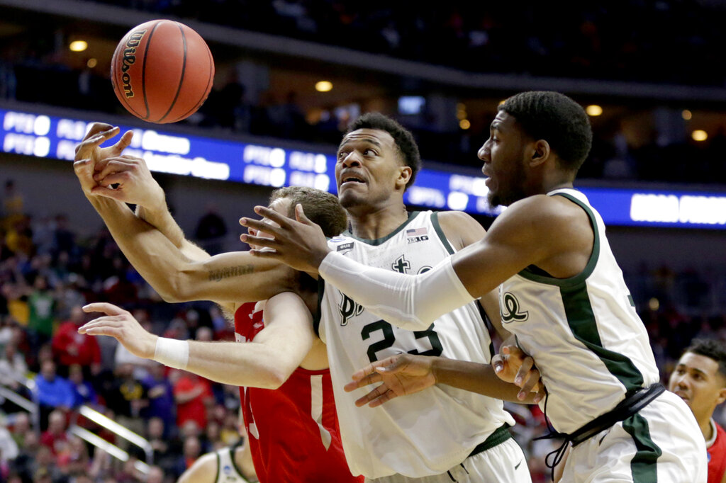 NCAA Bradley Michigan St Basketball_1553216853170