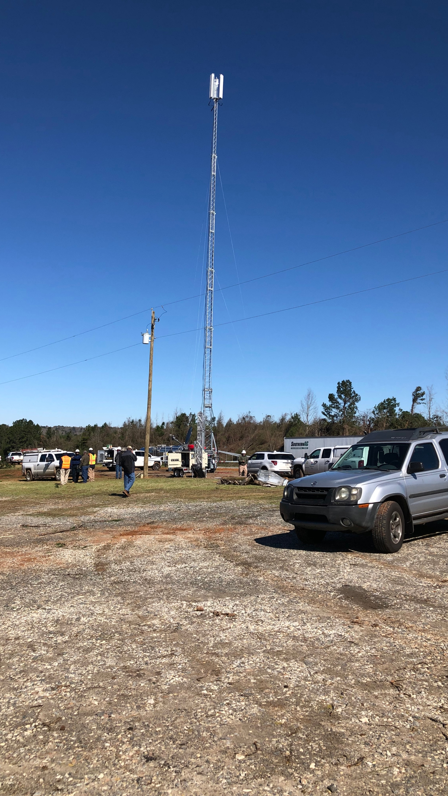 New Temporary Cell Tower on US280E by Kevin Roble WRBL