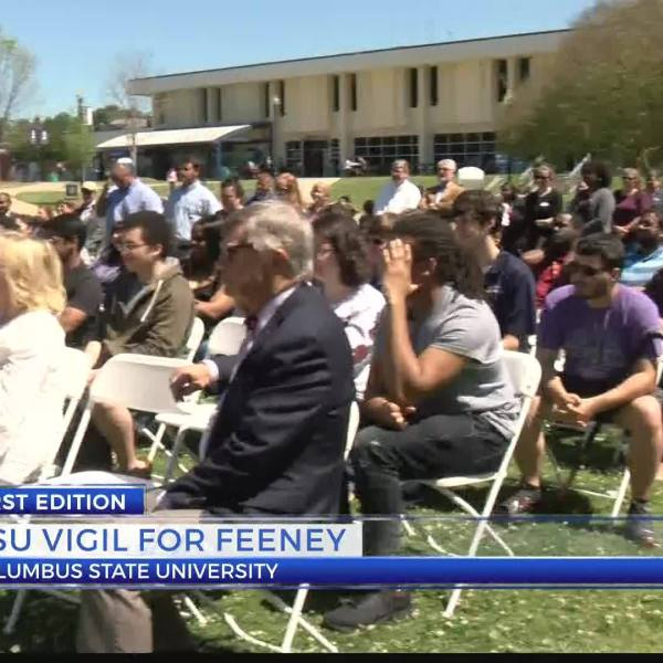 CSU hold vigil for fallen faculty member