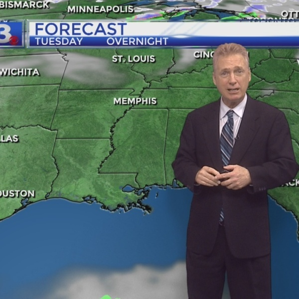 Jeff Kelly's Tuesday Forecast