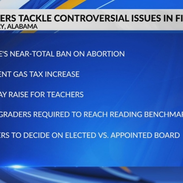 Alabama legislators take up important issues