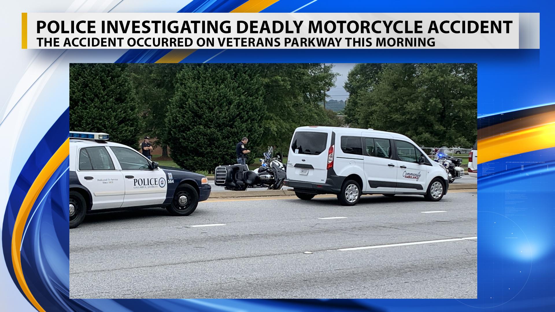 UPDATE: Motorcyclist in Veterans Parkway crash dies at hospital