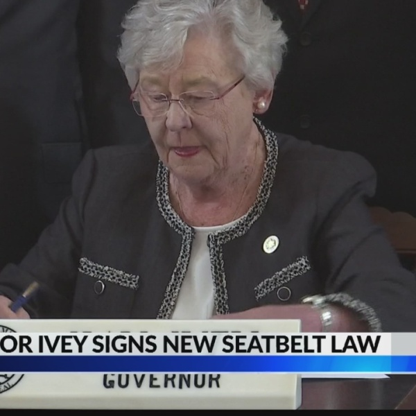 New seat belt law in Alabama becomes official in September