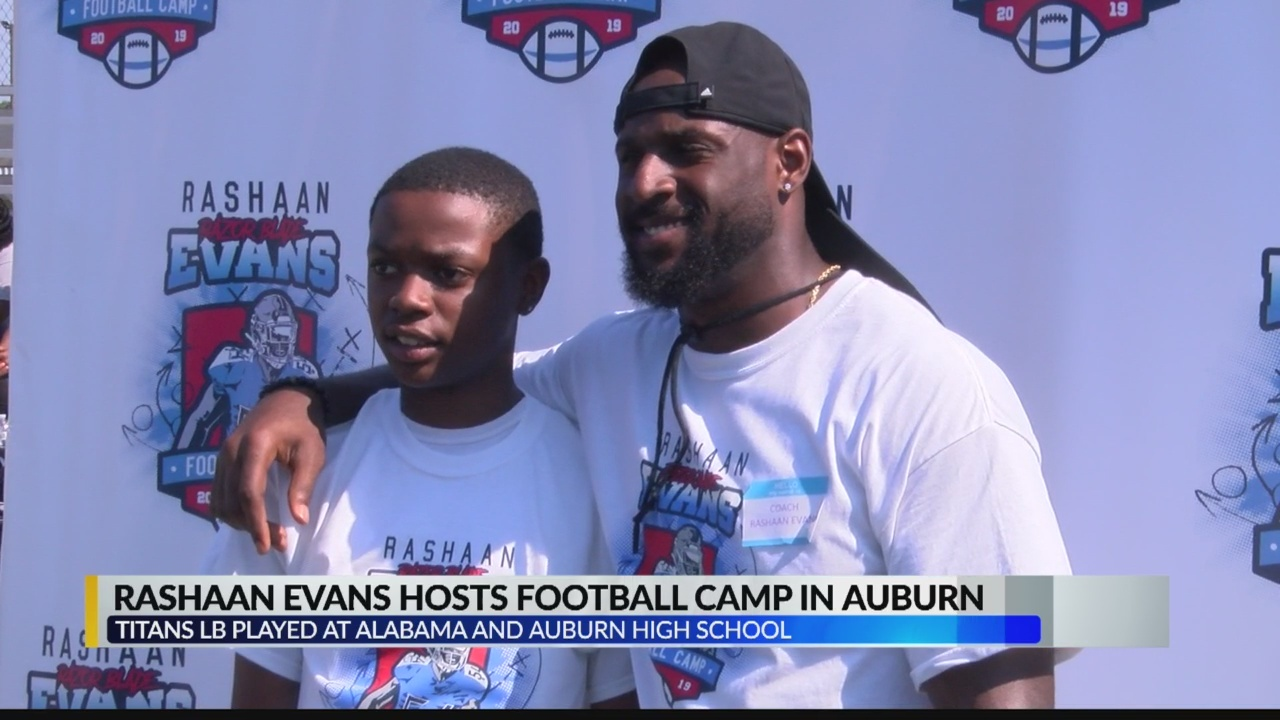 Rashaan Evans hosts football camp in Auburn