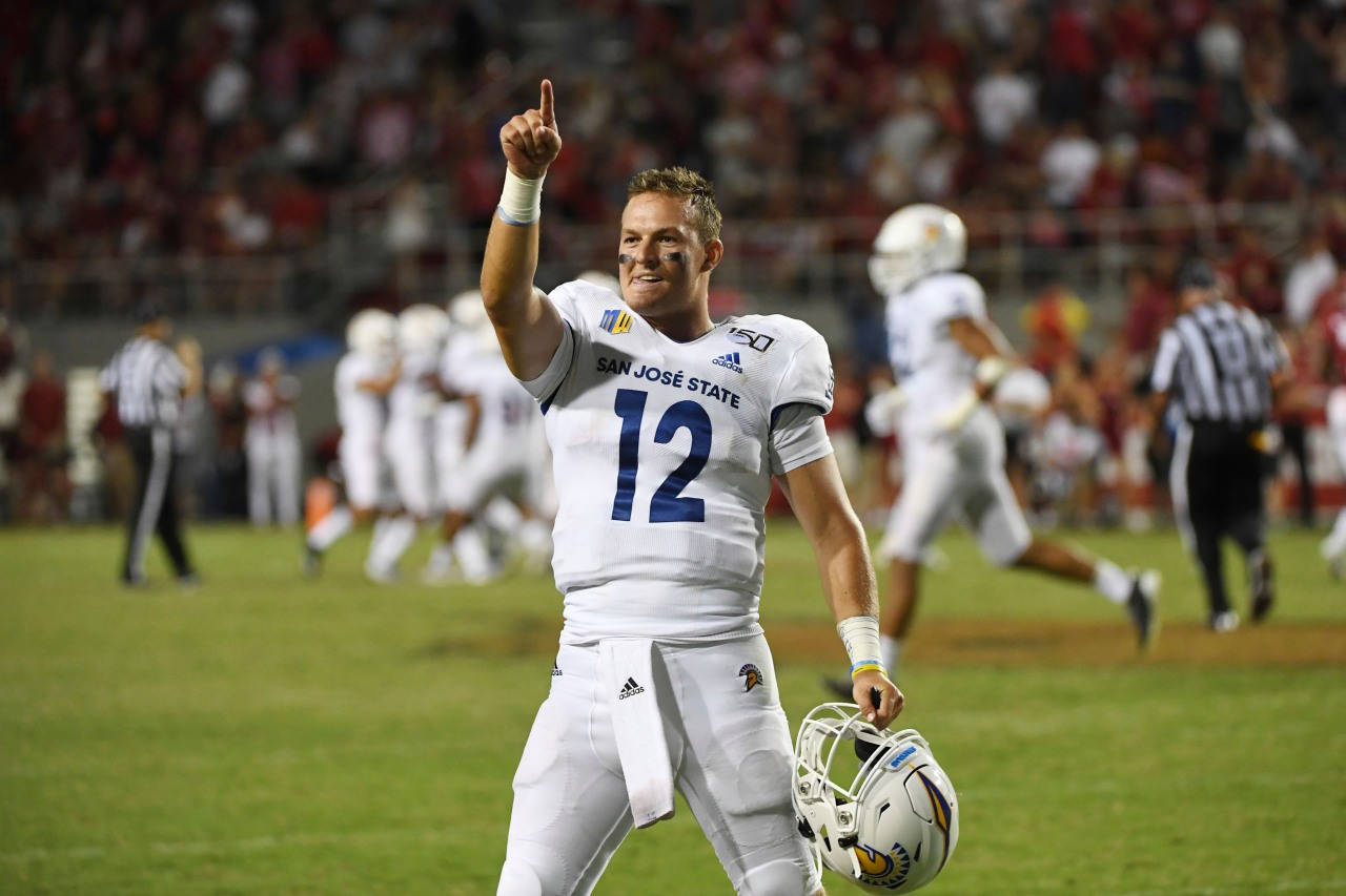 san jose state upsets arkansas with late score