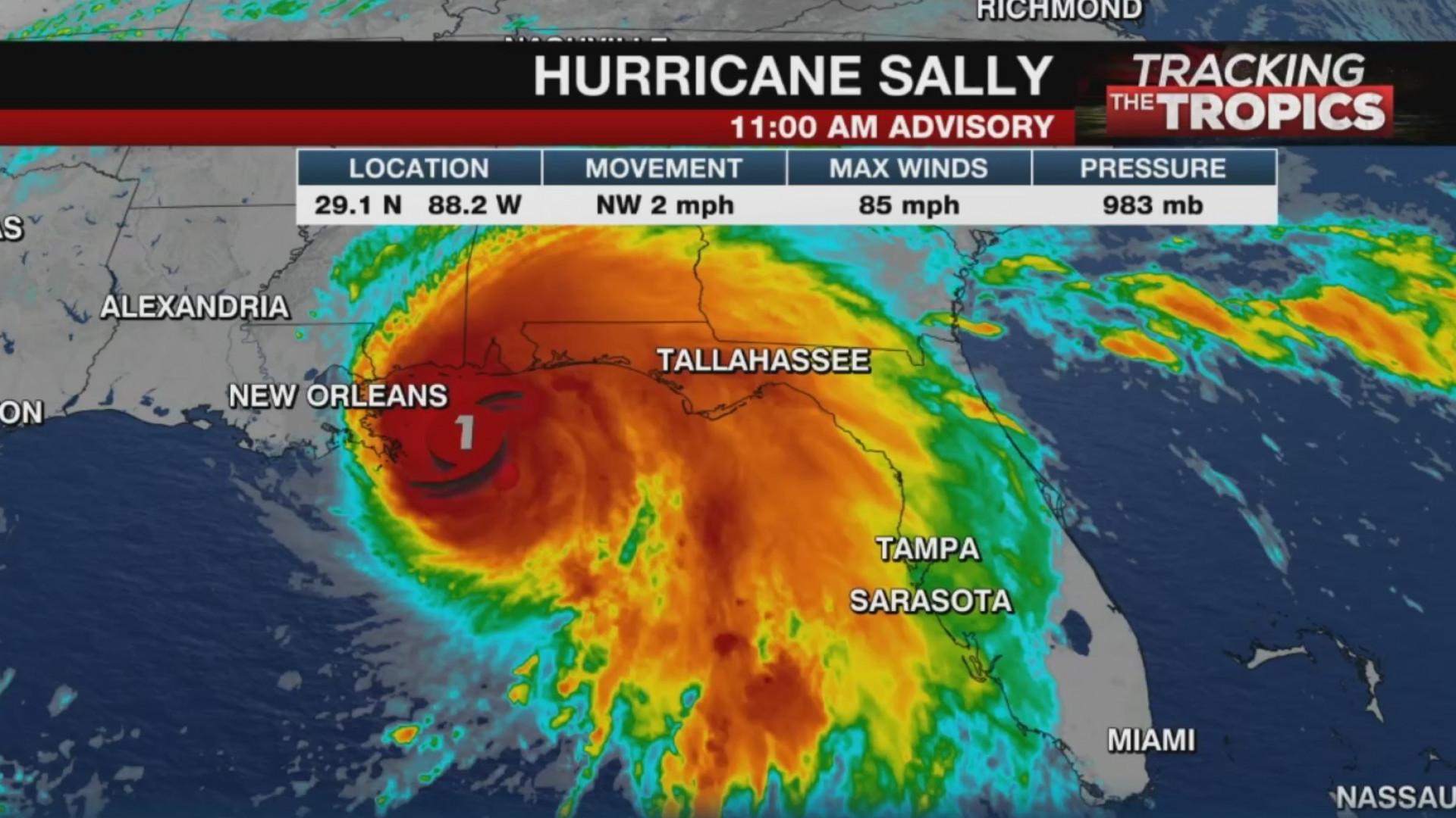 Hurricane Sally Impacts Alabama Florida Coasts Wrbl