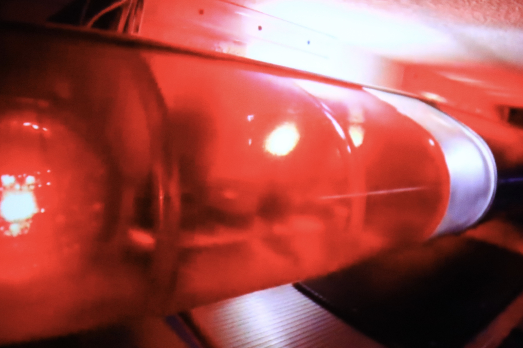 Flashing Red Fire Truck ligh