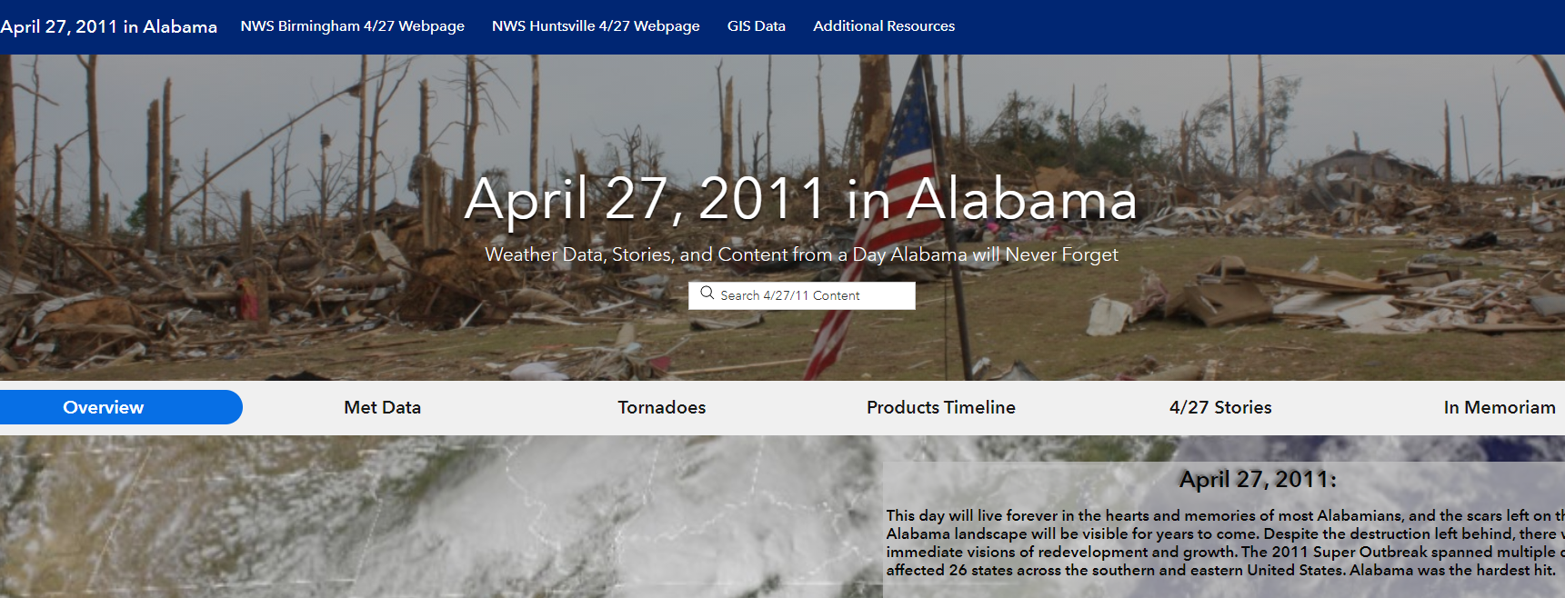 Website commemorates 2011 tornado outbreak that killed 240 people in Alabama