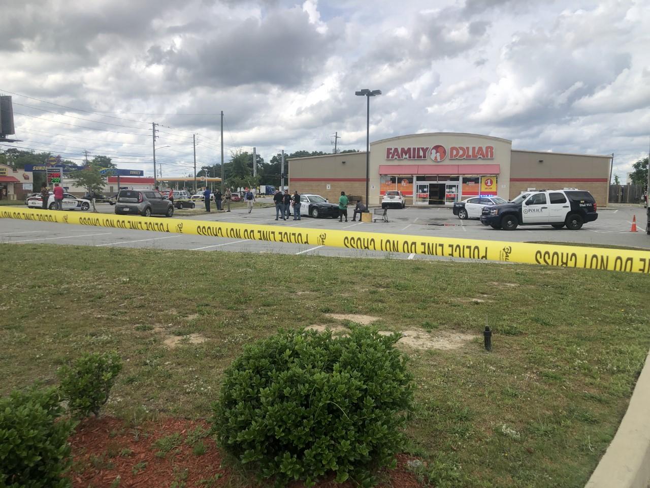 Columbus, Ga. police at Family Dollar on Floyd Road