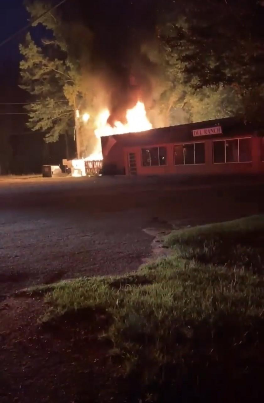 Del Ranch storage building fire