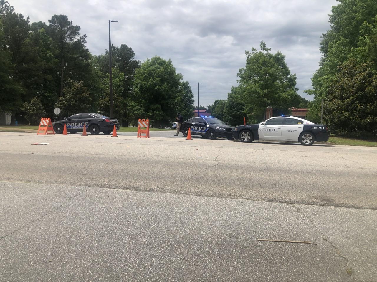 Police on scene at Blackmon Road Middle School in Columbus, Ga.