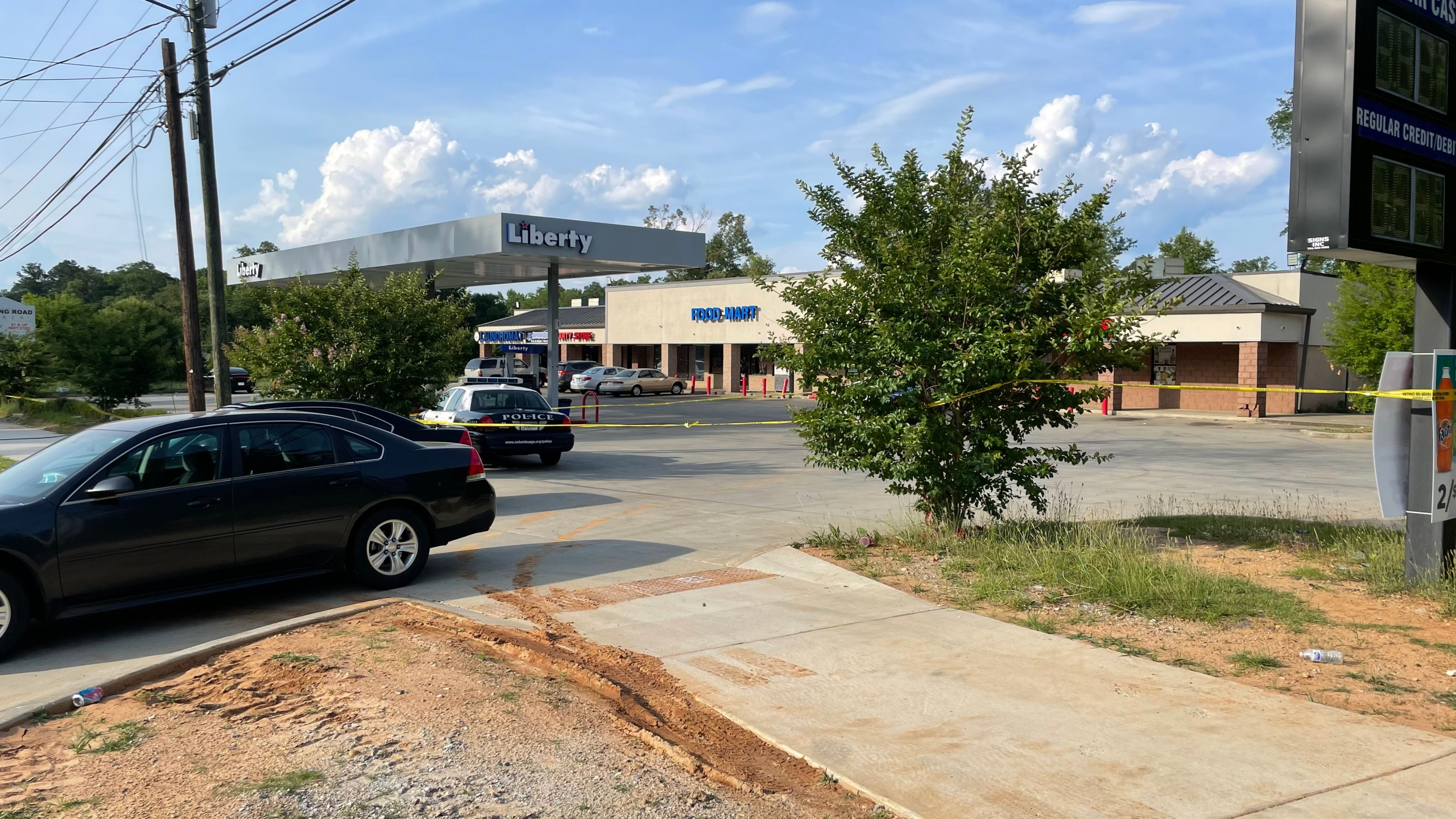 heavy police presence on Fort Benning Road