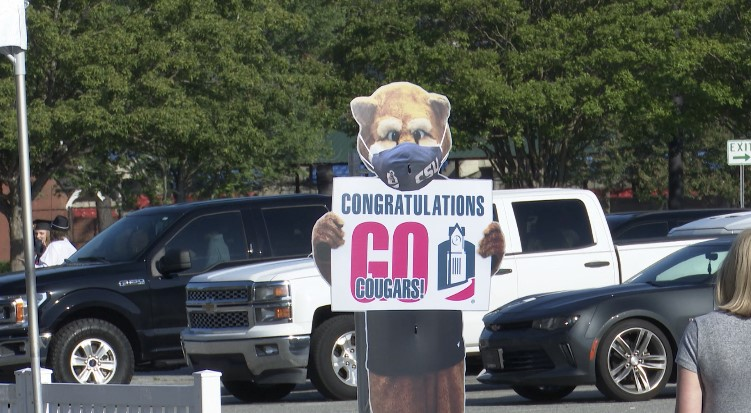 CSU Drive-in graduation