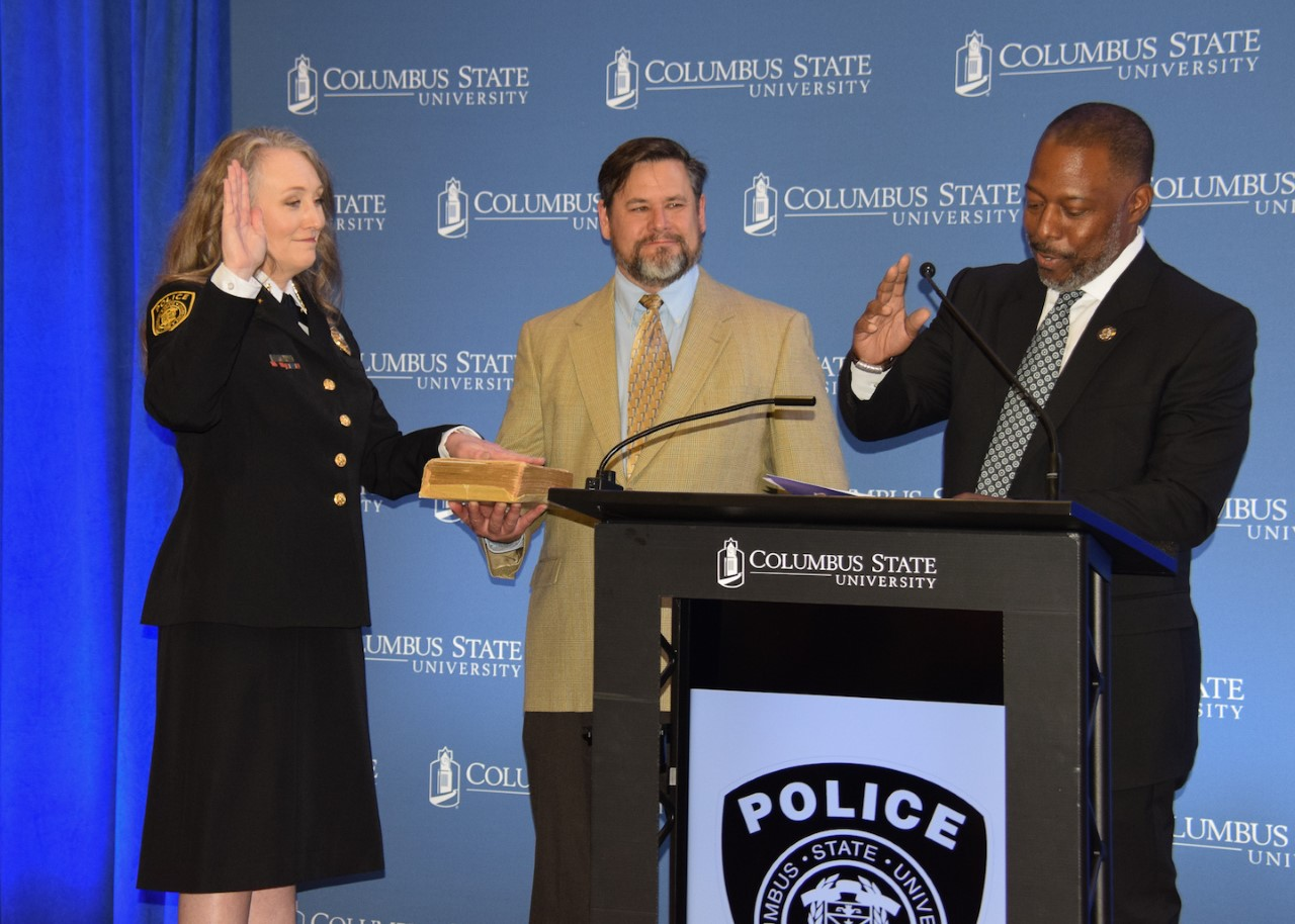 Laura Bennett sworn in as Columbus State University's chief of police
