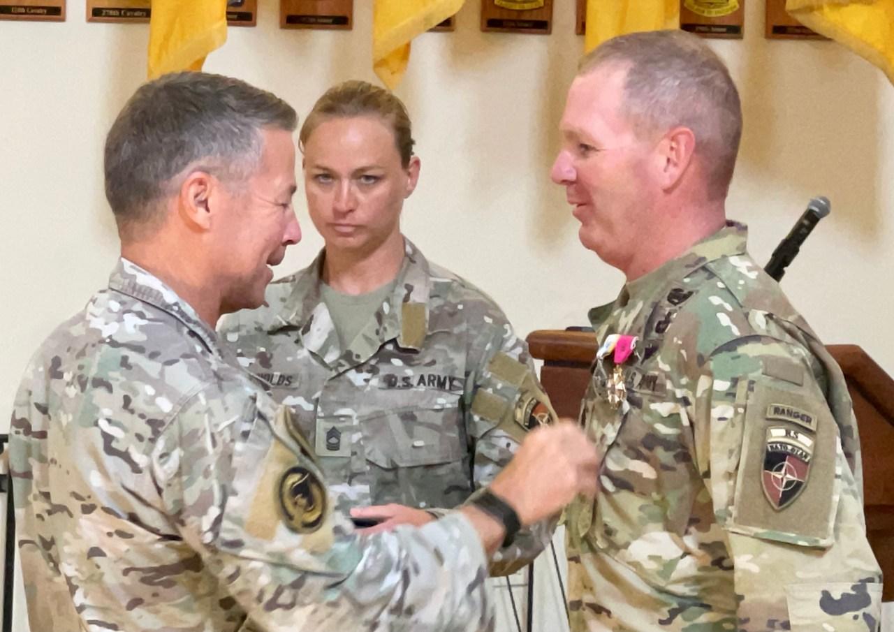 Days out of Afghanistan, Gen. Scott Miller gives his command sergeant major 'proper sendoff' at Fort Benning