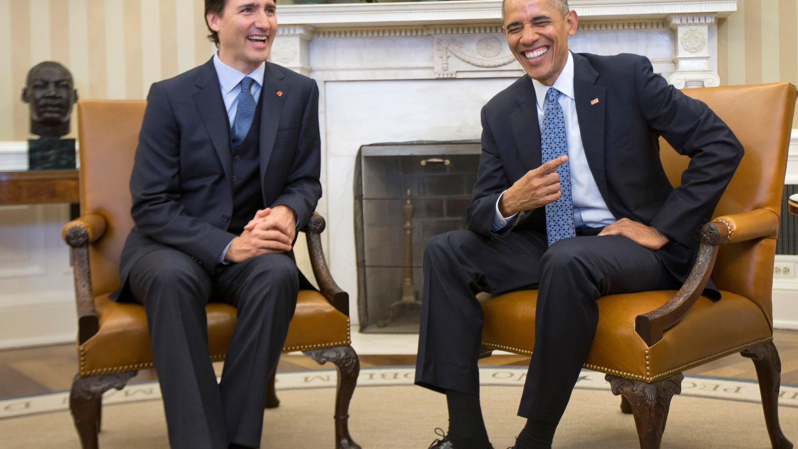 Barack Obama, Justin Trudeau,